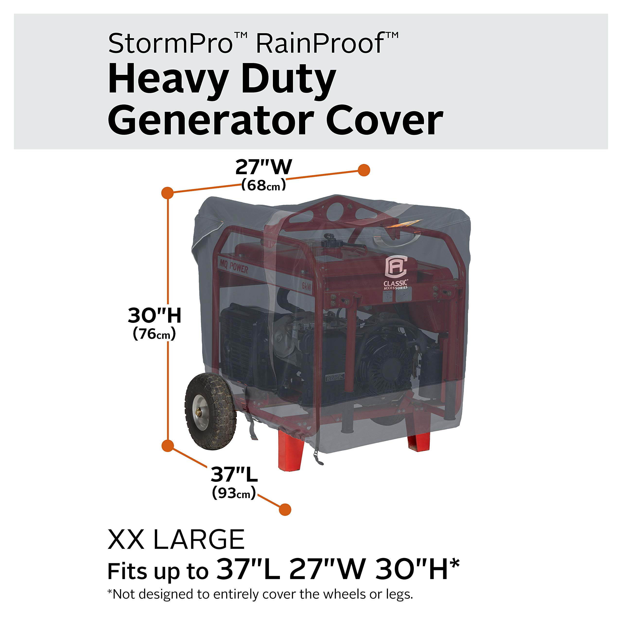 Classic Accessories StormPro RainProof Heavy Duty Generator Cover, XX-Large by Classic Accessories (Image #3)