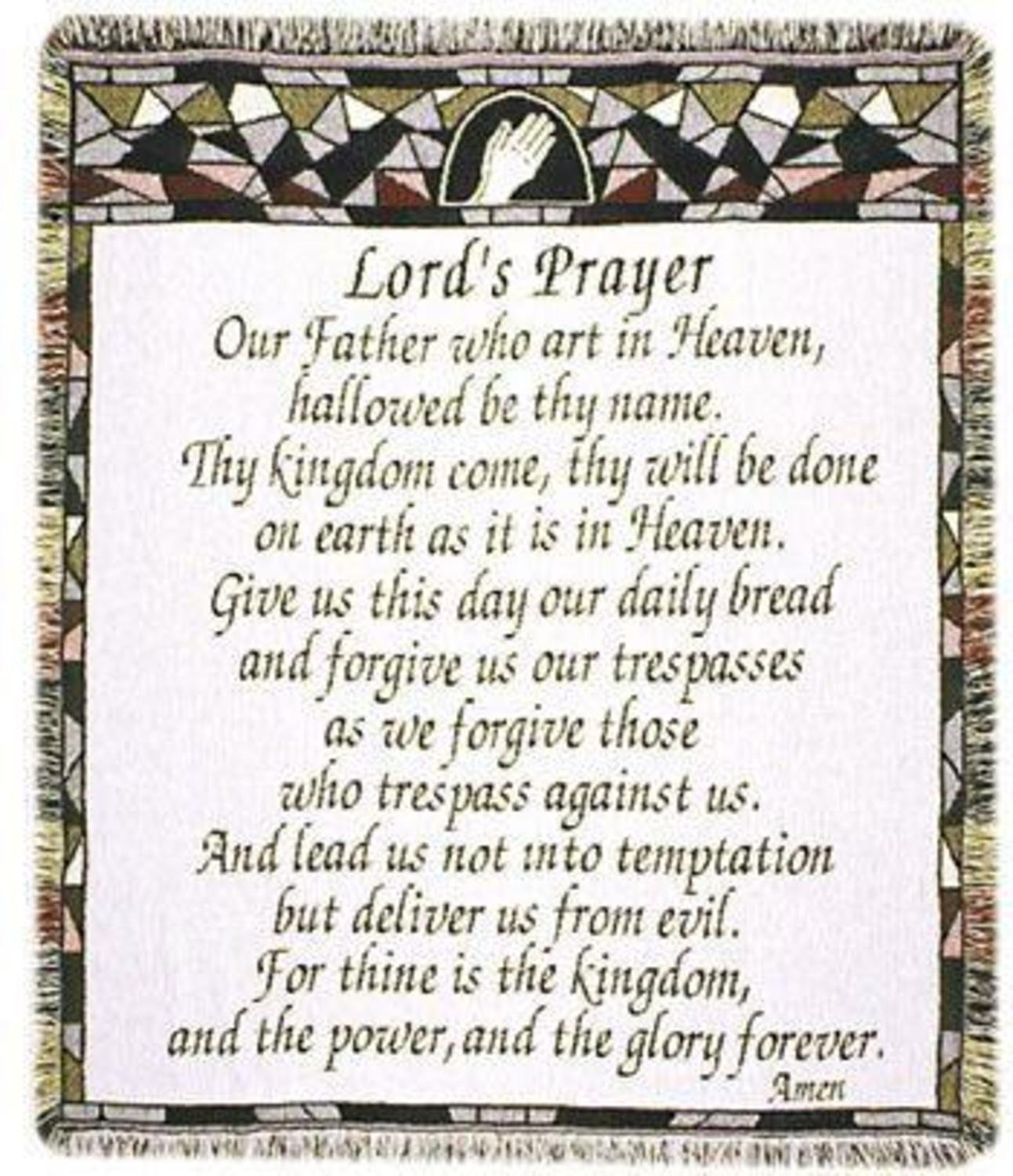 amazon com the lord u0027s prayer religious afghan throw blanket 48