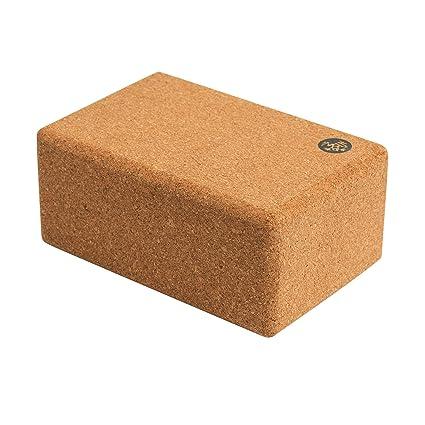 Manduka Cork Block Yoga - Cojín para Yoga, Color Natural ...