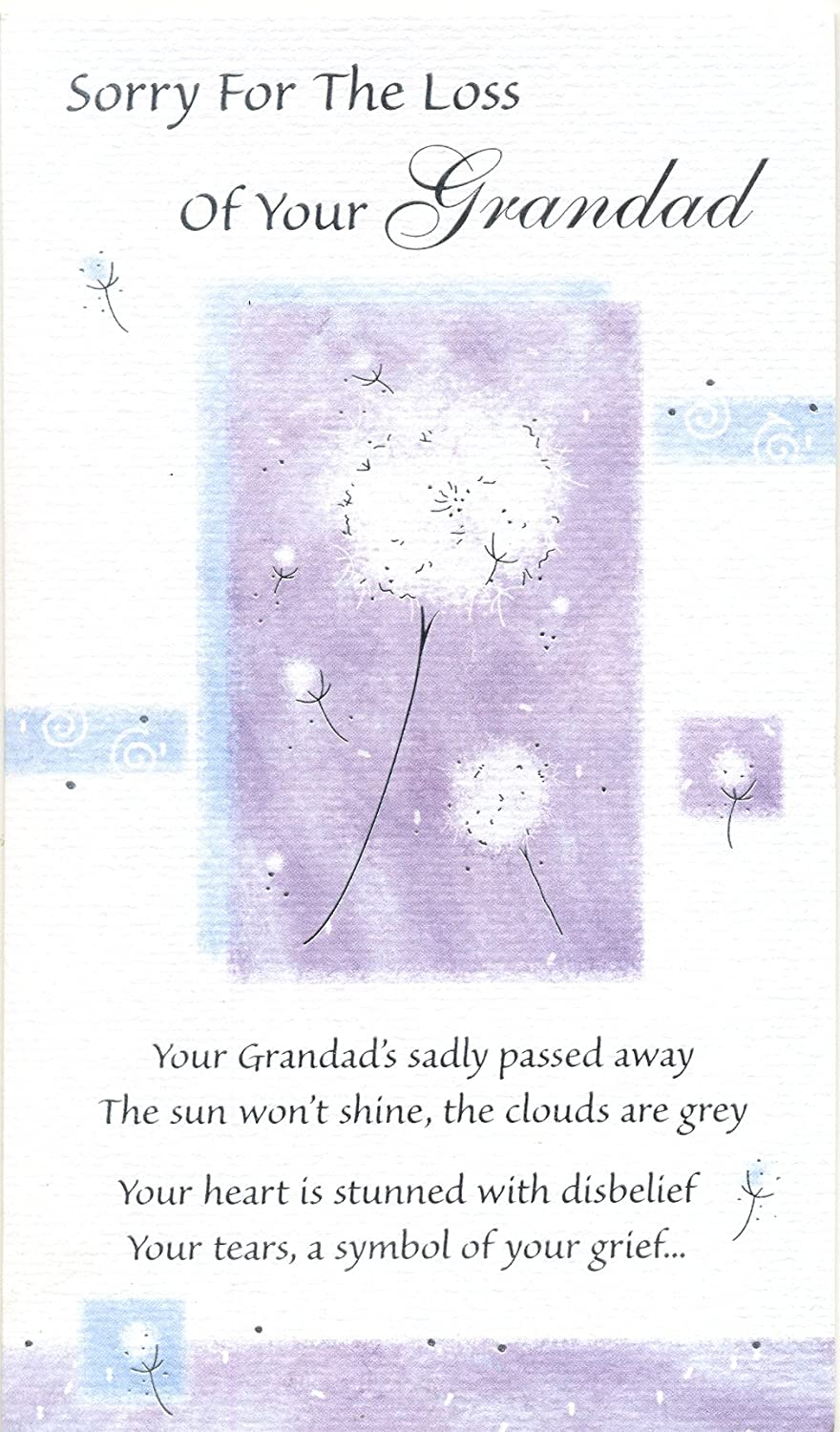 Sorry For The Loss Of Your Grandad Sympathy Card Kamrock GMCL156
