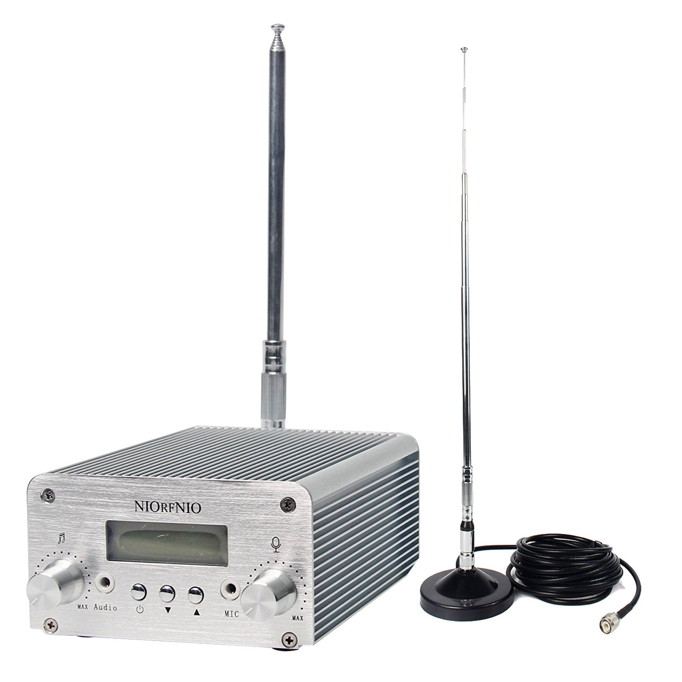 Signstek 15W/5W Dual Mode Long Range Stereo Broadcast Home Wireless FM Transmitter PLL LCD with Antenna by Signstek