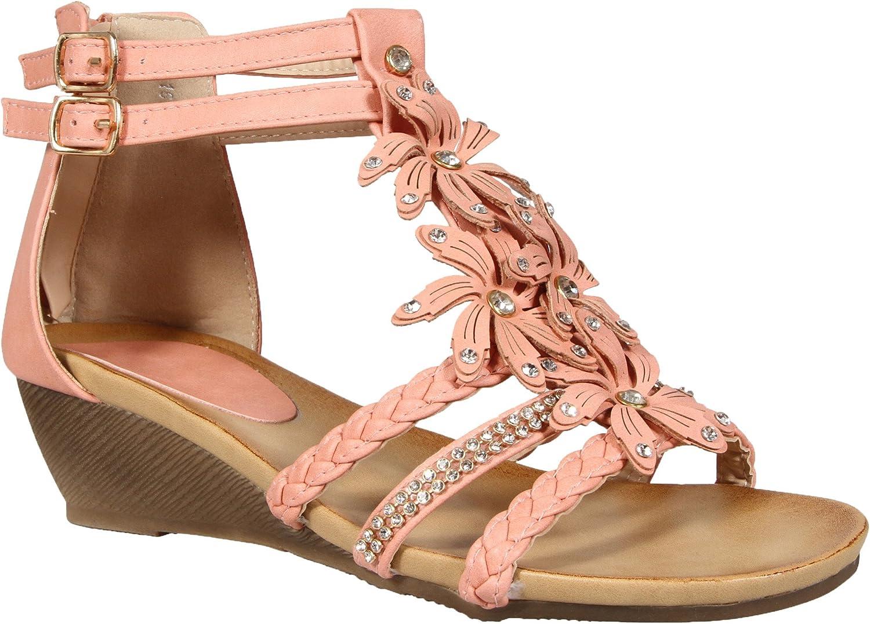 MyShoeStore Ladies Womens Gladiator