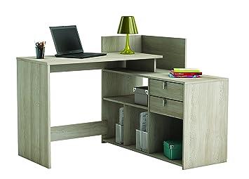 Demeyere tiroirs bureau d angle vista bois shannon en chêne