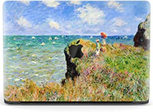 Mertak Hard Case for Apple MacBook Pro 16 Air 13 inch Mac 15 Retina 12 11 2020 2019 2018 2017 Touch Bar Clear Claude Monet Laptop Protective Cover Plastic Print The Cliff Walk at Pourville Seascape