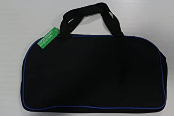 United Colors Of Benetton UCB Blue Black Duffle Gym Bag