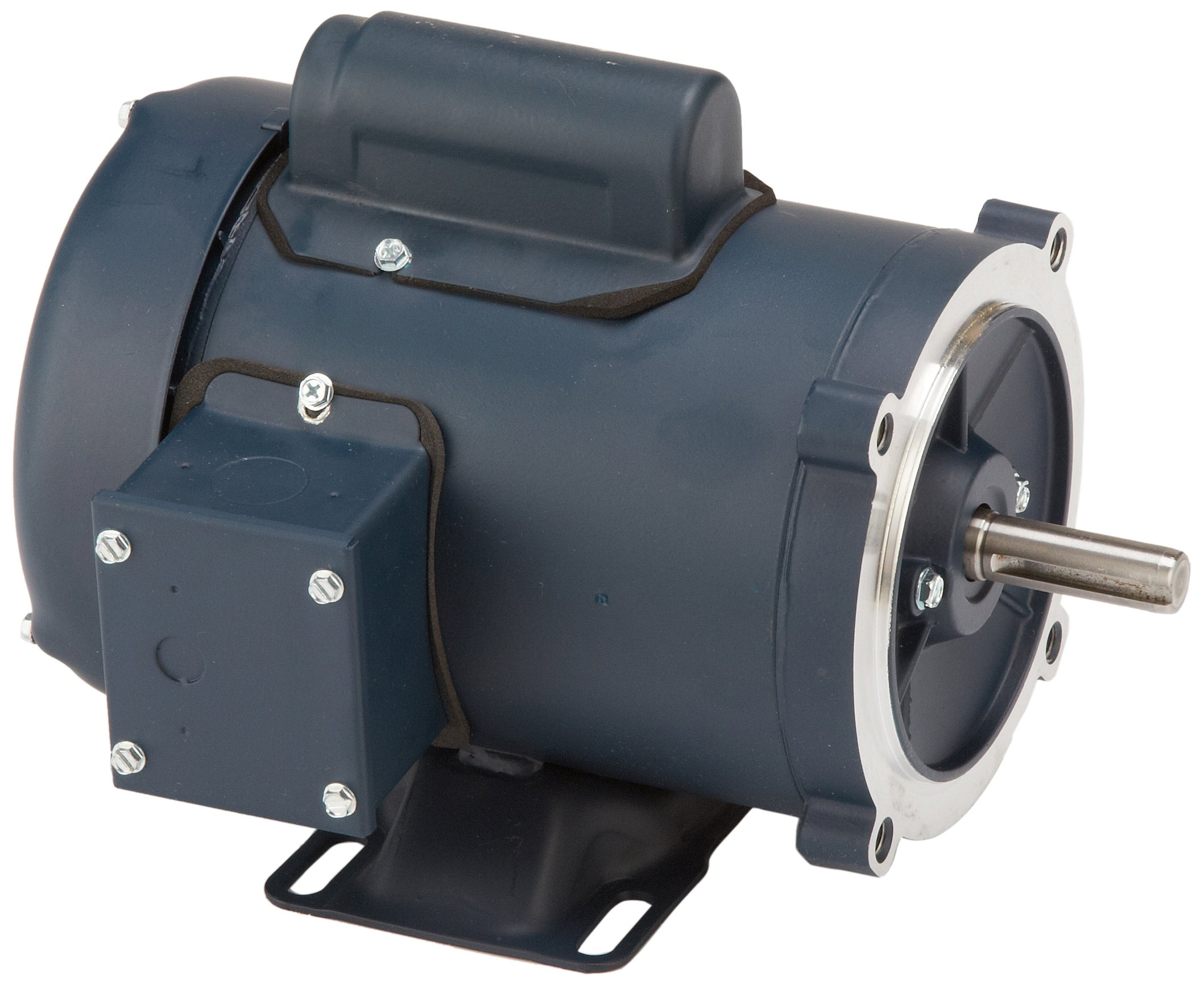 Leeson 102907.00 General Purpose C Face Motor, 1 Phase, S56C Frame, Rigid Mounting, 1/2HP, 1800 RPM, 115/208-230V Voltage, 60Hz Fequency