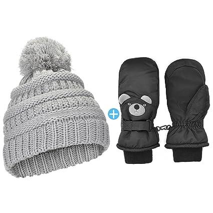 NICE CAPS Little Kids Toddlers Boys Girls Baby Winter Snow Mitten Glove Clips