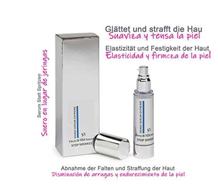 Serum Efecto B- TÖX Natural 50ml . Similar a la Toxina BOTULINICA. Anti Age Tensor
