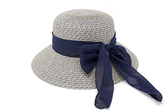 Fenside Country Clothing Ladies Elegance Straw Hat with Large Self Coloured Straw Bow Wide Brim One Size Adjustable