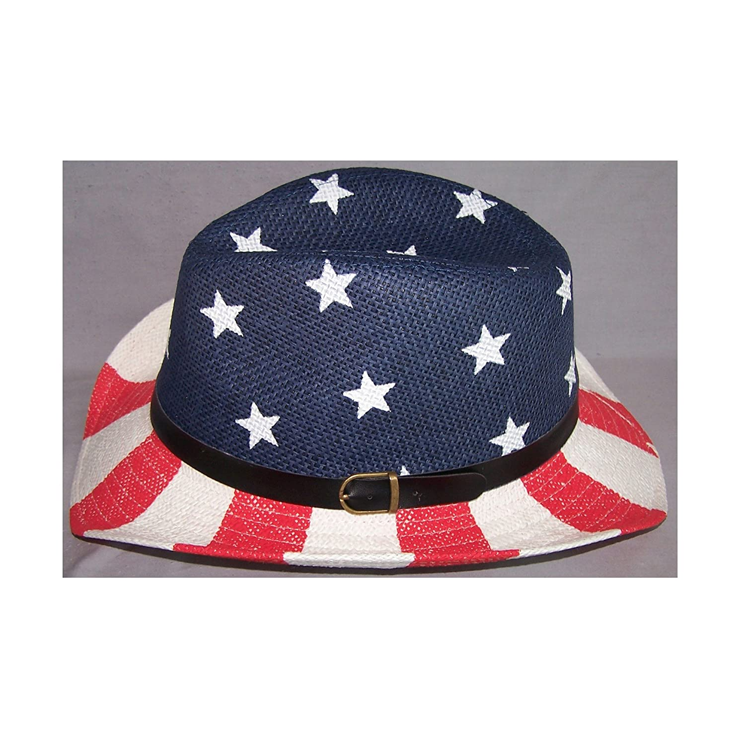 US Flag Star and Stripes Rodeo Cowboy Cowgirl Western Hats ACowBg43