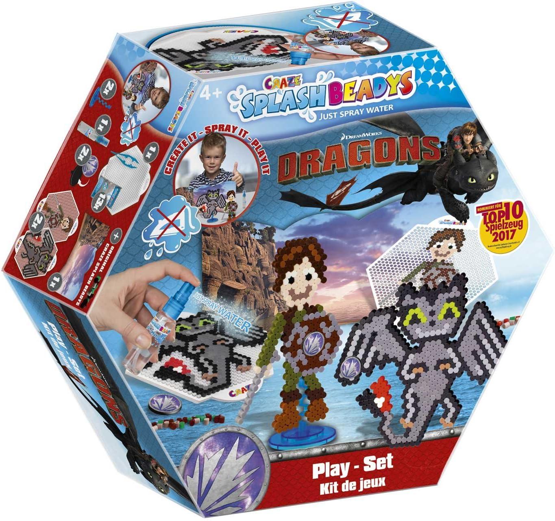 CRAZE fusibles FUSE BEADS SPLASH BEADYS DRAGONS Juego de cuentas de agua para niños Craft Kit 59327, multicolor , color/modelo surtido: Amazon.es: Juguetes y juegos