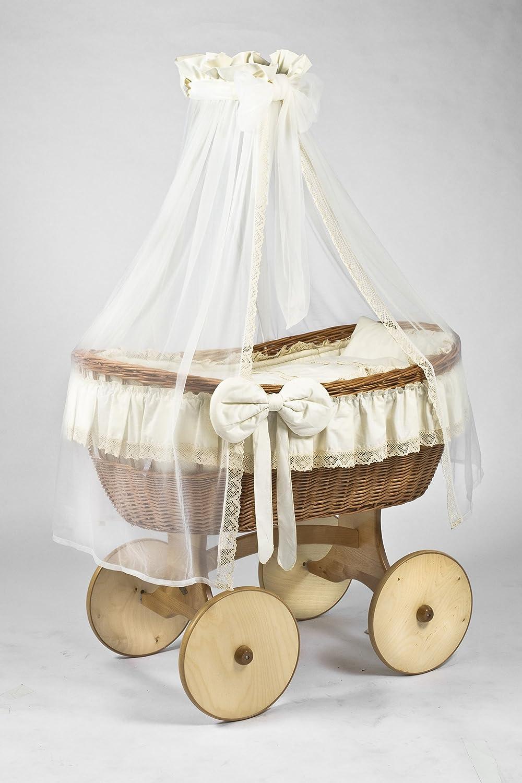 9-teiliges Bettw/äsche-Set f/ür Neugeborene mit Nestchen passend f/ür 90 x 40 cm Kinderbett Wiege
