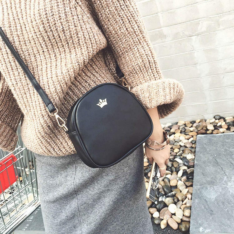Handbag Phone Purse Women Bag Crown PU LeathWomen ShouldBag Shell Crossbody Bag