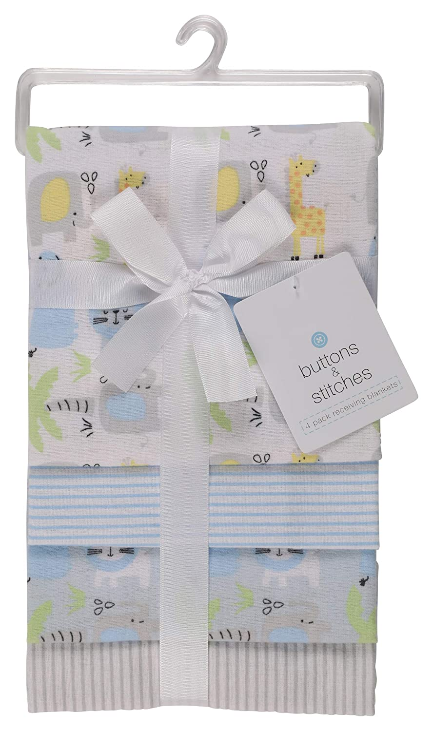 Buttons and Stitches Little Beginnings Four Piece Laddered Receiving Blankets Zootopia Cudlie Accessories GS71268
