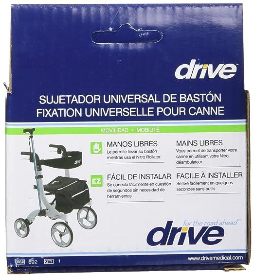 Amazon.com: Drive Medical Nitro Rollator Cane Holder, Black: Health & Personal Care