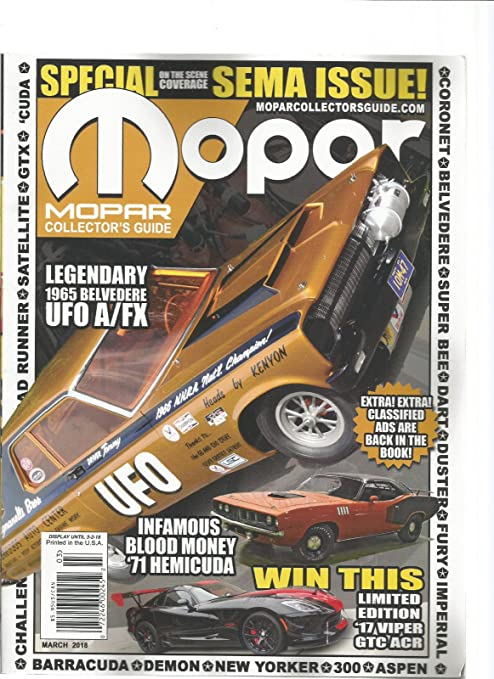 Amazon com : MOPAR MUSCLE MAGAZINE MARCH 2018  SPECIAL SEMA ISSUE ON