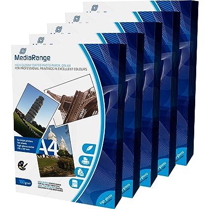 MediaRange mrink108 DIN A4 Papel fotográfico para impresora de ...