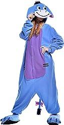168bd1bd35 VU ROUL Eeyore Onesie Adult Pajamas Blue