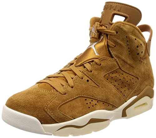 new product b2c9b 038ba Nike Air Jordan 6 Retro Weizen Pack Herrenschuhe in Beige Wildleder  384664-705