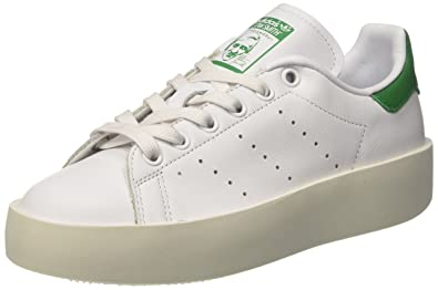 adidas Women's Stan Smith Bold Low Top Sneakers, White