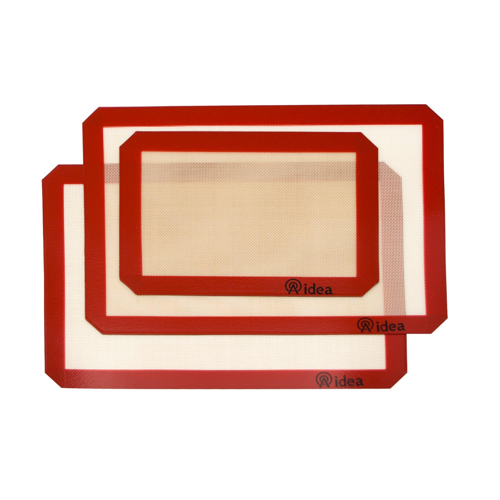 Silicone Baking Mat - Nonstick Rolling Baking Sheet Cookie Mat Fiberglass - Set of 3, 11-5/8'' x 16-1/2'' & 8-1/4'' x 11-3/4''