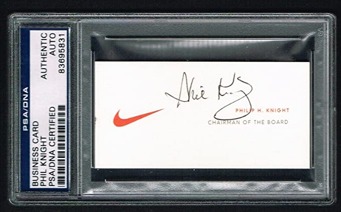 Phil knight signed autograph auto nike co founder business card psa phil knight signed autograph auto nike co founder business card psadna slabbed colourmoves