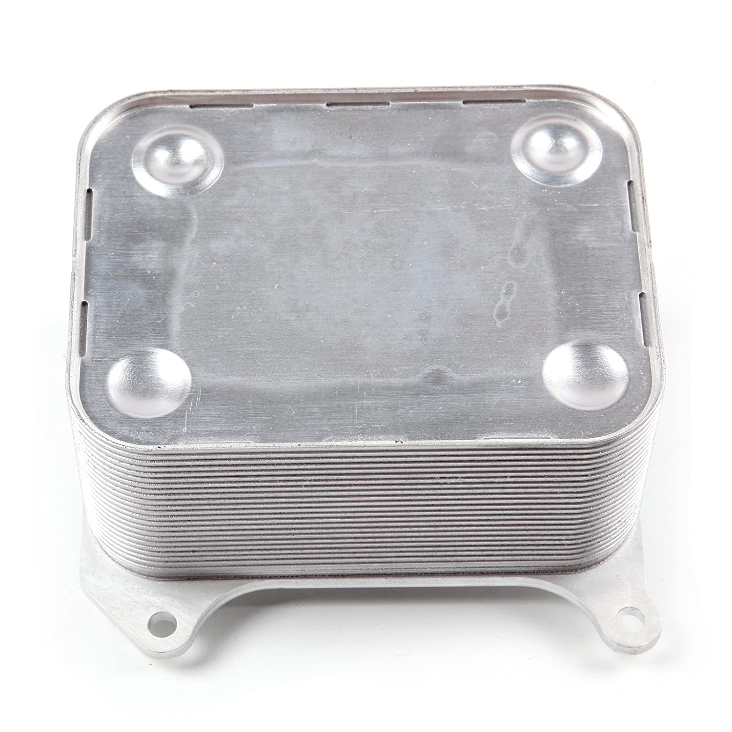 ECCPP Front Automotive Replacement High Flow Oil Cooler Stainless Steel for 2003-2010 Ford 6.0L Powerstroke Diesel F250 F350 High Flow Oil Cooler