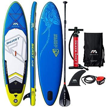 Modern-depo Aqua Marina Beast - Tabla de Paddle Hinchable DE 25,4 cm con Kit de Accesorios estándar: Amazon.es: Hogar