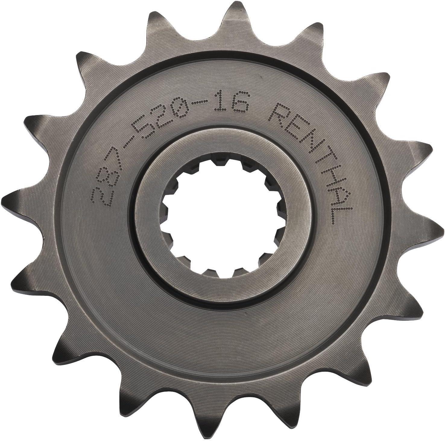 18T Sprocket Position: Front 341--530-18P Sprocket Size: 530 Sprocket Teeth: 18 Renthal Steel Front Sprocket Color: Natural Material: Steel