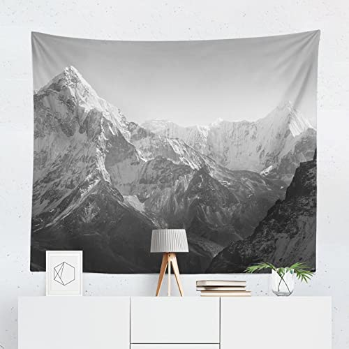 Mountain Tapestry Wall Tapestries Bedroom Hangings Dorm Decor Black Grey  Decorative Art Large Small