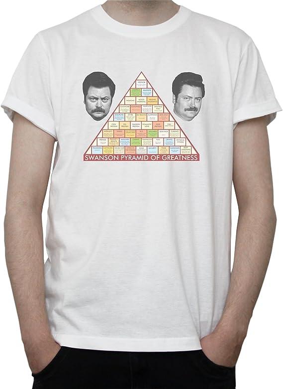 Ron Swanson Pyramid of Greatness Mens T-Shirt: Amazon.es ...
