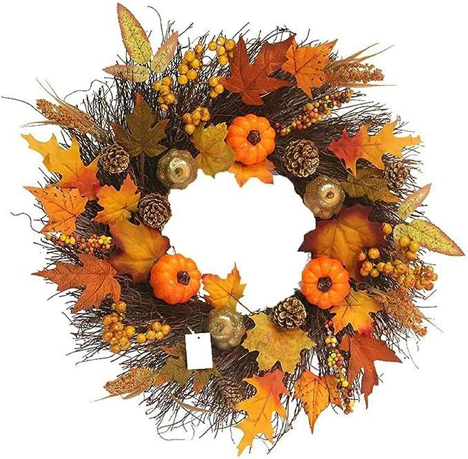 VINASE Large Fall Door Wreath, Home Decor Wreath, Autumn Front Door Wreaths, Outside Door Wreath For Christmas, Halloween, Thanksgiving Decor (B): Amazon.co.uk: Kitchen & Home