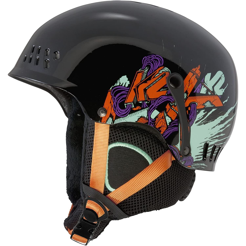 Jr-S 51-55cm/K2 ENTITY/黒 ケーツー 子供用 キッズ ジュニア スキー スノーボード ヘルメット