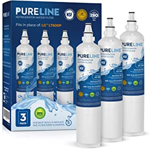 Kenmore 9990 & LG LT600P Certified Premium Water Filter Replacement. Compatible with LG LT600P, 5231JA2006A, 5231JA2006B, CLS30320001 and Kenmore 9990. Reduces all major contaminants PURELINE (3 Pack)