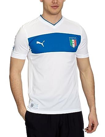 Puma - Camiseta de fútbol sala para hombre, tamaño S, color blanco