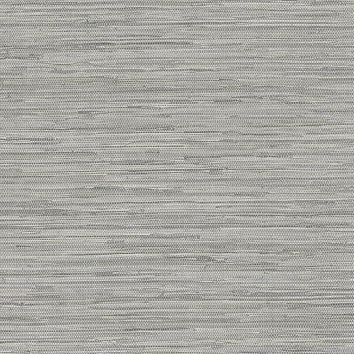Gray Grasscloth Wallpaper: Textured Wallpapers: Amazon.com