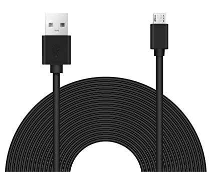 25ft Power Extension Cable for Wyze Cam Pan, Blink, Oculus Go, Ps4 Xbox  Controller, Echo Dot, Nest Cam, and Home Security Camera