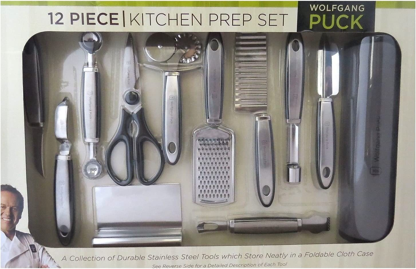 Wolfgang Puck 12 Piece Kitchen Prep Set Black