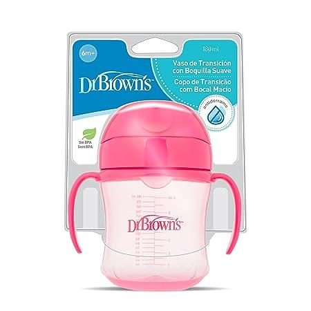 Dr. Browns TC61001SPX - Vaso de transición de boquilla suave, Colores surtidos, 180 ml