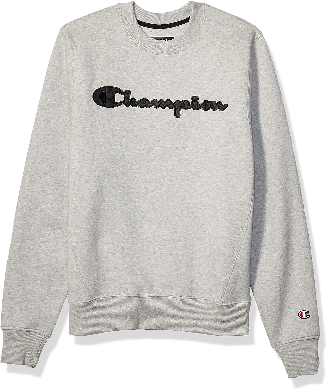 Champion LIFE Mens Champion Super Fleece 2.0 Crew-Quilted Script