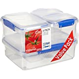 Sistema Klip It 6 Pack Food Storage Container, Clear
