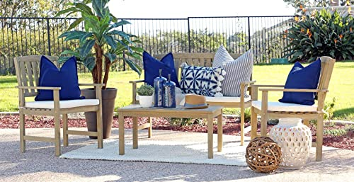 Coaster Home Furnishings 6912605 Thoreau 4-Piece Wire Brushed Outdoor Conversation Set