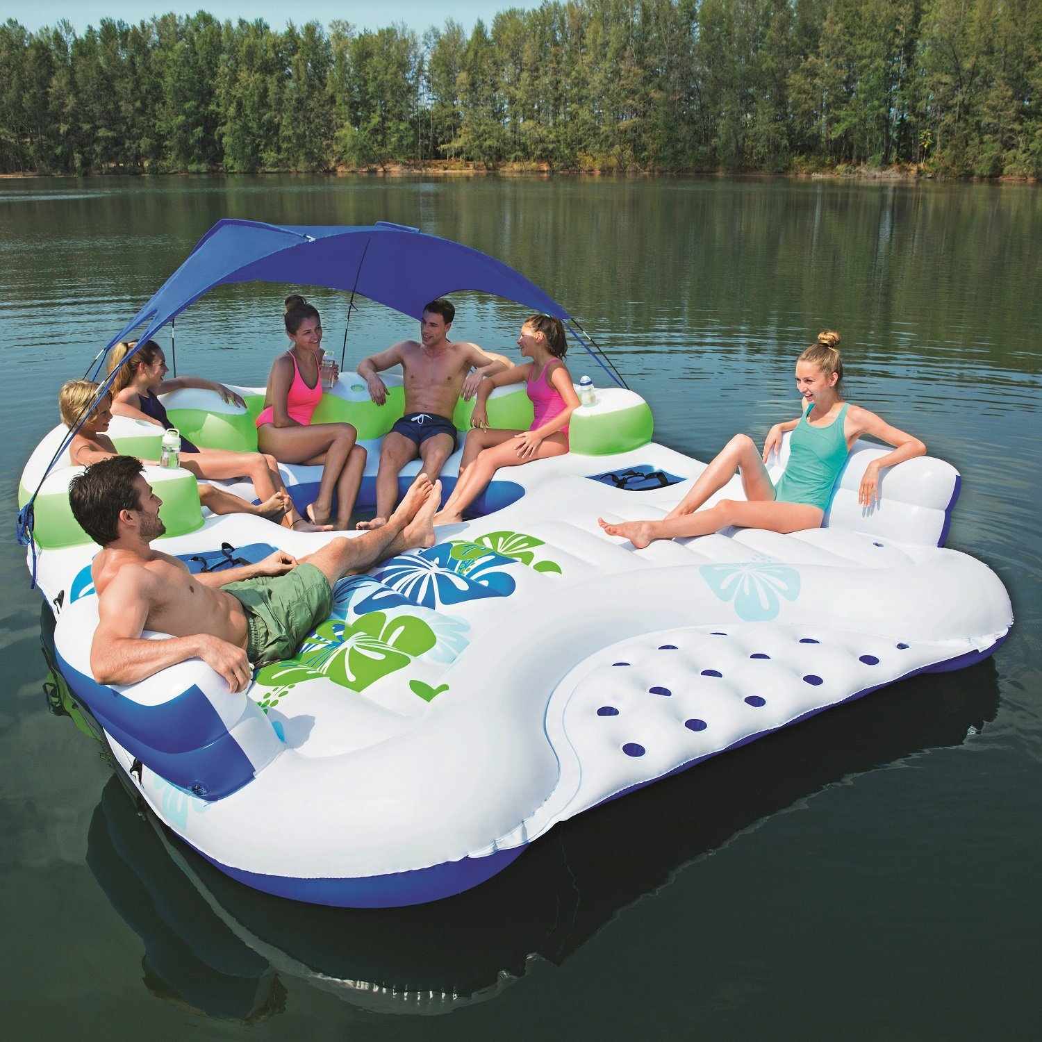 X5 canopy island for Pool floats design raises questions