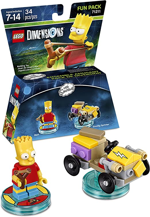 LEGO Dimensions, Simpsons Bart Fun Pack by Warner Home Video ...