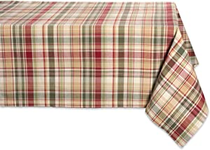 """Cabin Plaid Square Tablecloth, 100% Cotton with 1/2"""" Hem (60x104"""" - Seats 8 to 10)"""