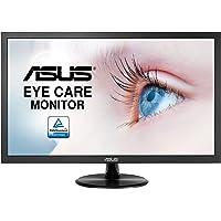 Asus VP228DE 54,61 cm (21,5 Zoll Full HD) Eye Care Monitor (VGA, 5ms Reaktionszeit, Blaulichtfilter) schwarz