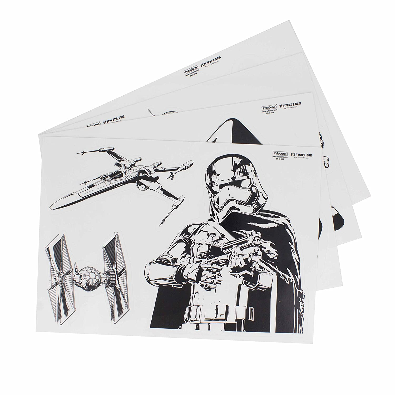 Star Wars Gadget Decalcomanie Riutilizzabile Impermeabile Adesivi, Vinile, 1 x 15 x 21 cm 1x 15x 21cm Paladone PP3790SW