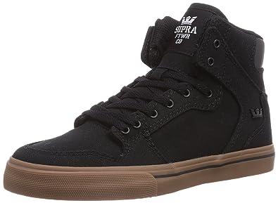 big sale 1beab e28ee Supra Kids Unisex Vaider (Little Kid Big Kid) Black Gum Canvas Sneaker