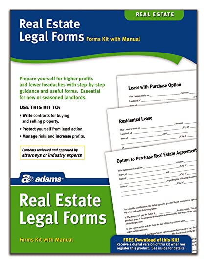 Adams Real Estate Legal Forms Kit Forms And Instructions Pk418