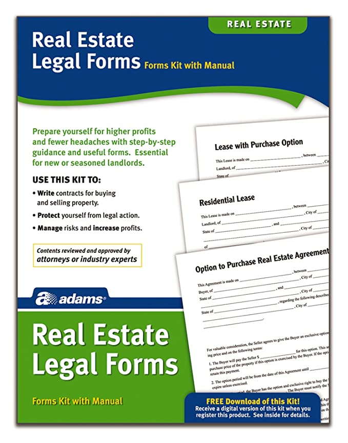 Amazon Adams Real Estate Legal Forms Kit Forms And